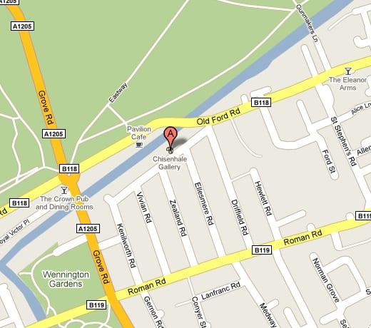 Chisenhale Google Map